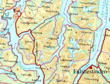 skibotn kart Kristen Ryeng   Turbeskrivelse   Falsnestinden (1059 moh) skibotn kart