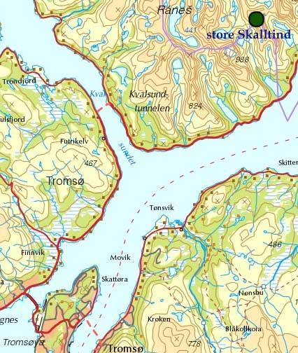 kart ringvassøy Kristen Ryeng   Turbeskrivelse   Store Skalltind (903 moh) kart ringvassøy