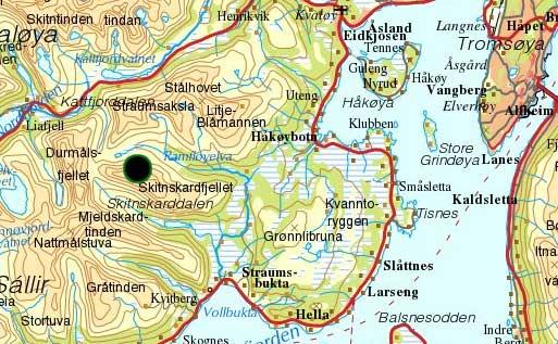 kattfjordeidet kart Kristen Ryeng   Turbeskrivelse   Skitnskardfjellet 824 moh kattfjordeidet kart